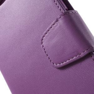 Diary PU kožené puzdro pre mobil Samsung Galaxy S6 -fialové - 6
