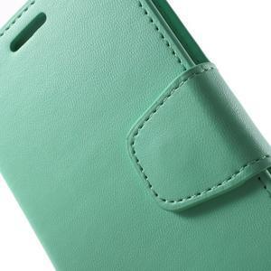 Diary PU kožené puzdro na mobil Samsung Galaxy S6 -cyan - 6