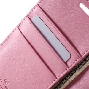 Diary PU kožené puzdro na mobil Samsung Galaxy S6 -růžové - 6