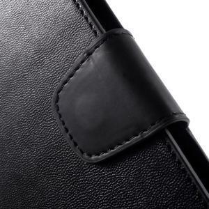 Diary PU kožené puzdro pre mobil Samsung Galaxy S6 -čierne - 6