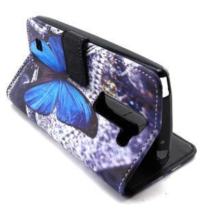 Peneženkové puzdro na mobil LG G4c - modrý motýl - 6