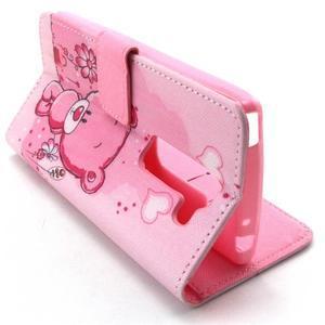 Peneženkové puzdro na mobil LG G4c - medvídek - 6