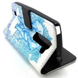 Peneženkové puzdro na mobil LG G4c - slon - 6