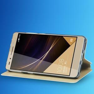 Elegantní PU kožené puzdro na mobil Huawei Honor 7 - gold - 6