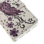Peňaženkové puzdro s třpytivými flitry pre Huawei Honor 7 - nádherný motýl - 6/7