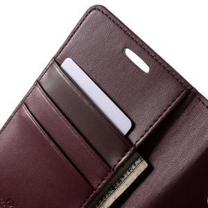 Diary PU kožené puzdro pre mobil Samsung Galaxy S6 - vínové - 6