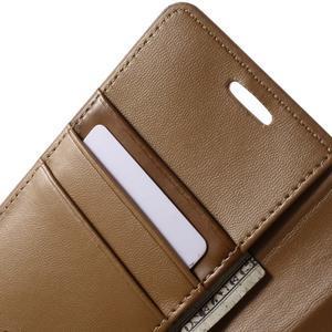 Diary PU kožené puzdro na mobil Samsung Galaxy S6 - hnedé - 6