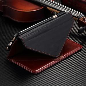 Breck peňaženkové puzdro na Samsung Galaxy S6 - hnedé/čierné - 6