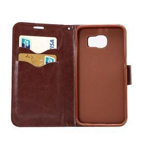 Cloth peňaženkové puzdro pre Samsung Galaxy S6 - čierné - 6