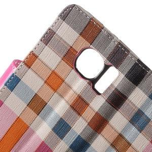 Módní štýlové puzdro na Samsung Galaxy S6 - rose - 6