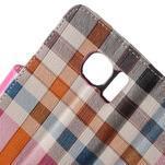 Módní štýlové puzdro na Samsung Galaxy S6 - rose - 6/7