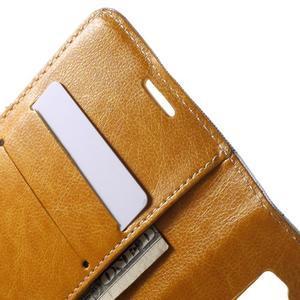 Módní štýlové puzdro na Samsung Galaxy S6 - oranžové - 6