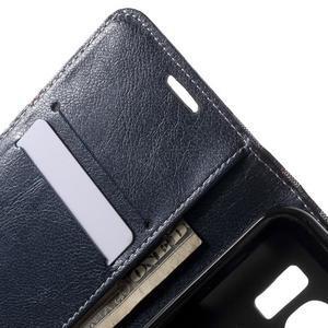 Módní štýlové puzdro na Samsung Galaxy S6 - tmavo modré - 6