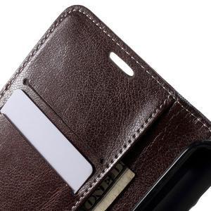 Módní štýlové puzdro na Samsung Galaxy S6 - hnedé - 6
