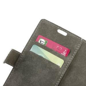 Peňaženkové PU kožené puzdro pre mobil Honor 7 Lite - bielé - 6
