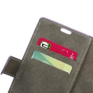 Peněženkové PU kožené pouzdro na mobil Honor 7 Lite - fialové - 6