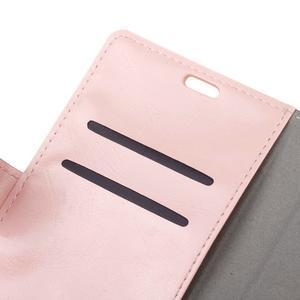 Horse PU kožené puzdro pre mobil Honor 7 Lite - ružové - 6