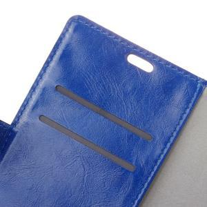 Horse PU kožené puzdro pre mobil Honor 7 Lite - modré - 6