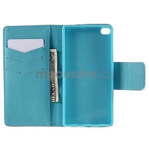 Peňaženkové puzdro Huawei Ascend P8 - modrý slon - 6