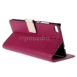 Peňaženkové kožené puzdro Huawei Ascend P8 - rose - 6