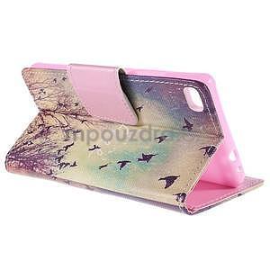 Peňaženkové puzdro Huawei Ascend P8 - vtáčiky - 6
