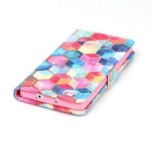 Puzdro pre mobil Huawei P8 Lite - farebné hexagony - 6