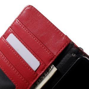 Luxusní peněženkové pouzdro na Huawei P8 Lite - červené / černé - 6