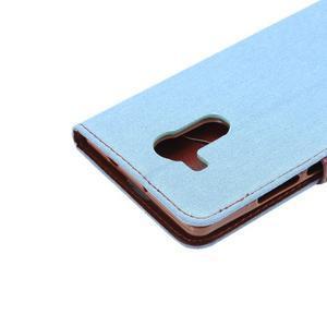 Jeans PU kožené pouzdro na mobil Huawei Mate 8 - světlemodré - 6