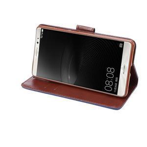 Jeans PU kožené puzdro na mobil Huawei Mate 8 - tmavomodré - 6