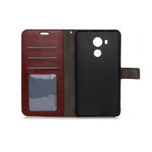 Peňaženkové puzdro na Huawei Mate 8 - hnedé - 6