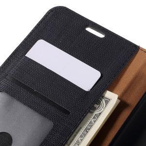 Clothy PU kožené puzdro na Huawei Mate 8 - čierne - 6