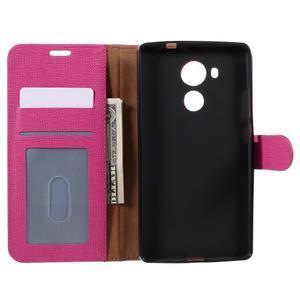 Clothy PU kožené puzdro na Huawei Mate 8 - rose - 6
