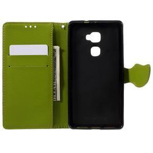 Knižkové PU kožené puzdro na mobil Huawei Mate S - hnedé - 6