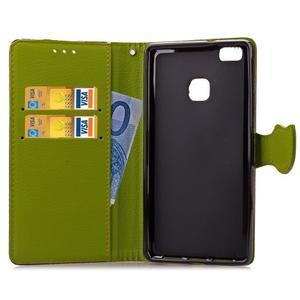 Leaf PU kožené pouzdro na Huawei P9 Lite - hnědé - 6