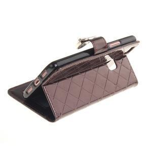 Luxury PU kožené peňaženkové puzdro na Huawei P9 Lite - coffee - 6