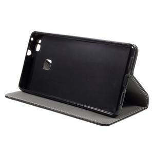 Klopové pouzdro na mobil Huawei P9 Lite - černé - 6