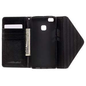 Penženkové pouzdro na mobil Huawei P9 Lite - hnědé/černé - 6