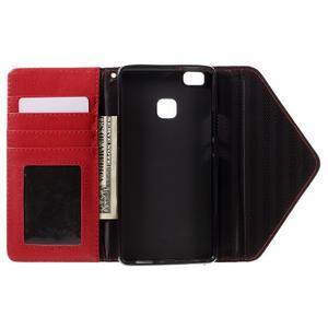 Penženkové pouzdro na mobil Huawei P9 Lite - černé/červené - 6