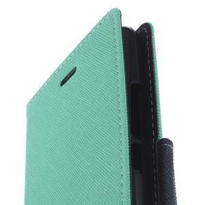 Diary PU kožené pouzdro na telefon Huawei P9 Lite - azurové - 6