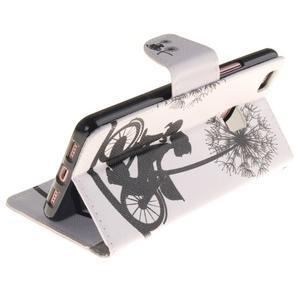 Lethy knižkové puzdro na telefon Huawei P9 Lite - láska na bicykli - 6