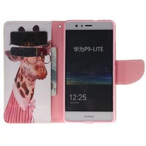 Lethy knížkové pouzdro na telefon Huawei P9 Lite - žirafa - 6