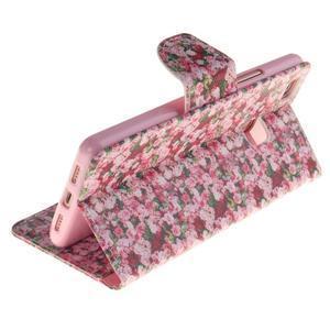 Lethy knižkové puzdro na telefon Huawei P9 Lite - koláž ruží - 6
