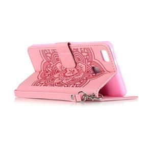 Dream PU kožené pouzdro s kamínky na Huawei P9 Lite - růžové - 6
