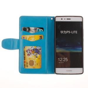 Mandala PU kožené pouzdro na Huawei P9 Lite - modré - 6