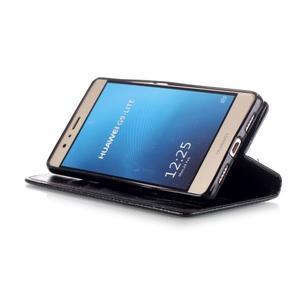 Magicfly knižkové puzdro na telefon Huawei P9 Lite - čierne - 6