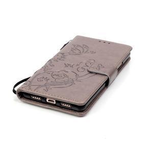Magicfly knížkové pouzdro na telefon Huawei P9 Lite - šedé - 6