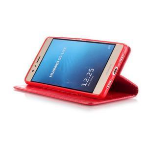 Magicfly knížkové pouzdro na telefon Huawei P9 Lite - červené - 6