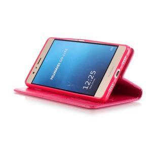 Magicfly knižkové puzdro na telefon Huawei P9 Lite - rose - 6