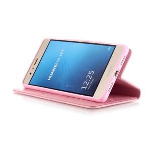 Magicfly knížkové pouzdro na telefon Huawei P9 Lite - růžové - 6