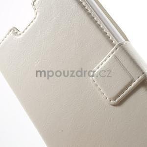 Bílé kožené puzdro na Huawei Y635 - 6